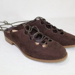 Wild Diva Lounge Brown Kaibin Lace Up Ankle Shoes